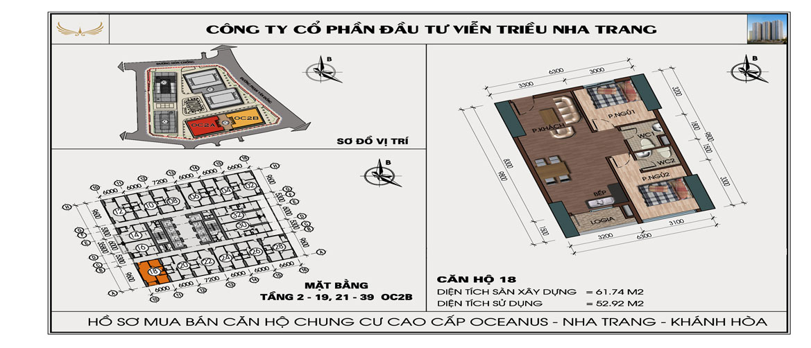 Căn 618 OC2B Viễn Triều