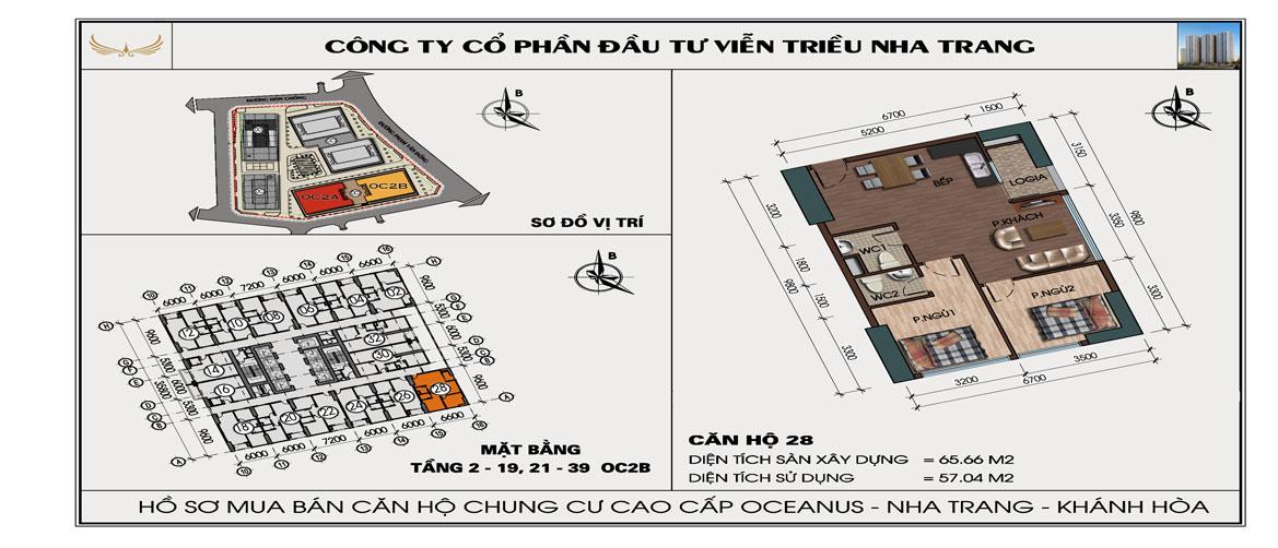 Căn 628 OC2B Viễn Triều