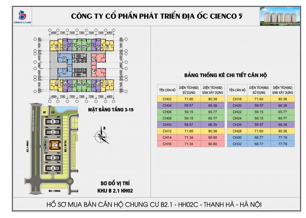 Mặt bằng tổng thể căn hộ chung b2.1 hh02c thanh hà mường thanh cienco 5