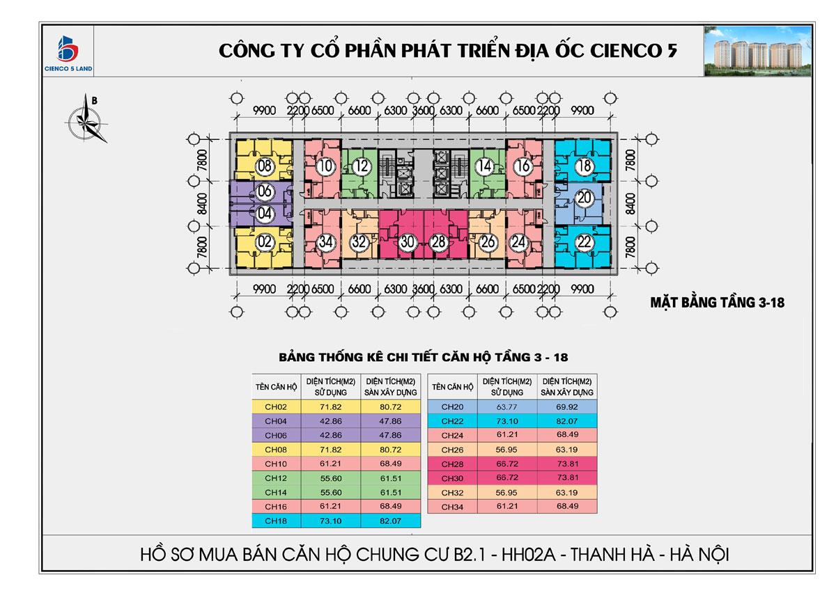 Mặt bằng tổng thể căn hộ chung b2.1 hh02a thanh hà mường thanh cienco 5