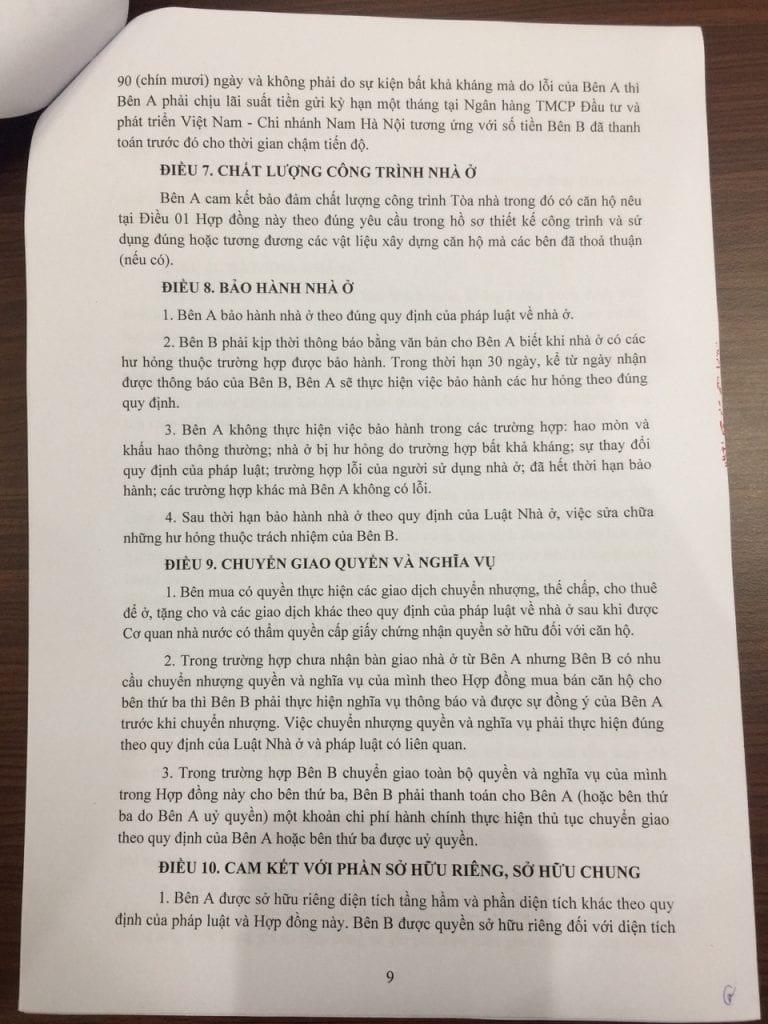 Trang 08- Hợp đồng mua bán căn hộ chung cư b21 hh02 thanh hà