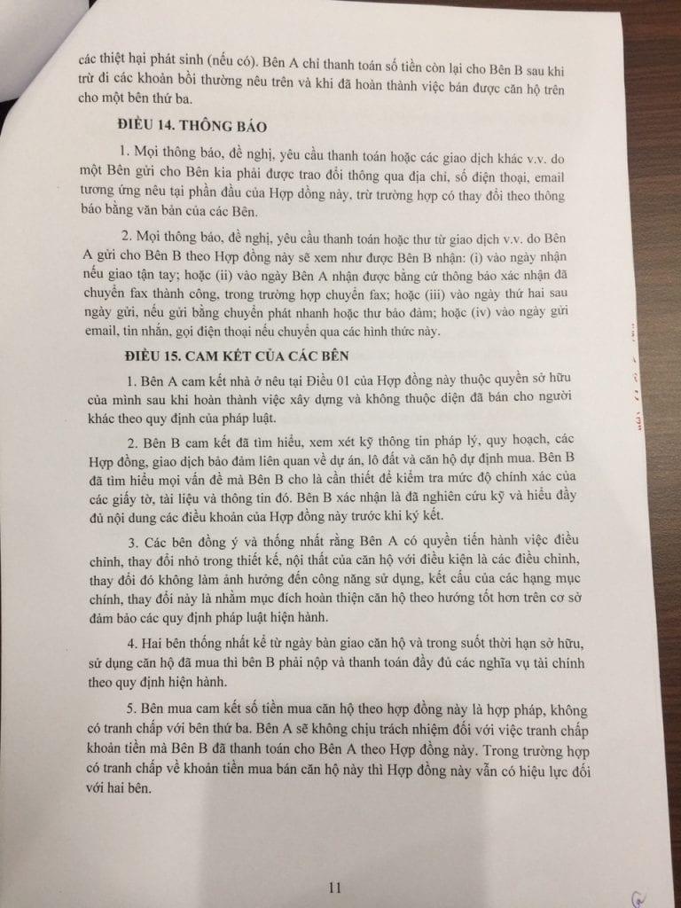 Trang 11- Hợp đồng mua bán căn hộ chung cư b21 hh02 thanh hà