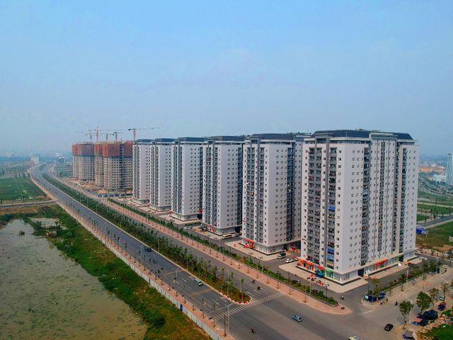Tổ hợp 6 Tòa chung cư B1.2 HH03 Thanh Hà người dân đã về sinh sống