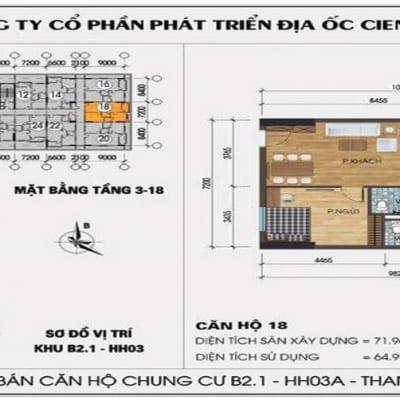 Mặt bằng căn 18 chung cư hh03 thanh hà mường thanh cienco 5 land