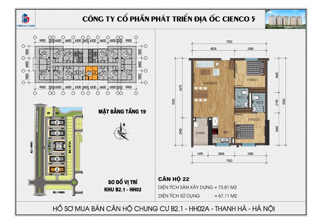 Mặt bằng căn hộ 22 chung b2.1 hh02a thanh hà mường thanh cienco 5
