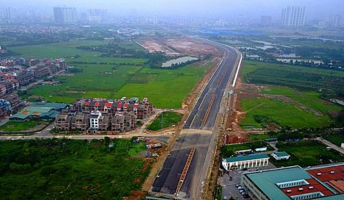 Nút điểm cuối cùng của dự án sẽ được hoàn thành trước 10/10/2019 giao với đường trục Tây Nam Hà Nội