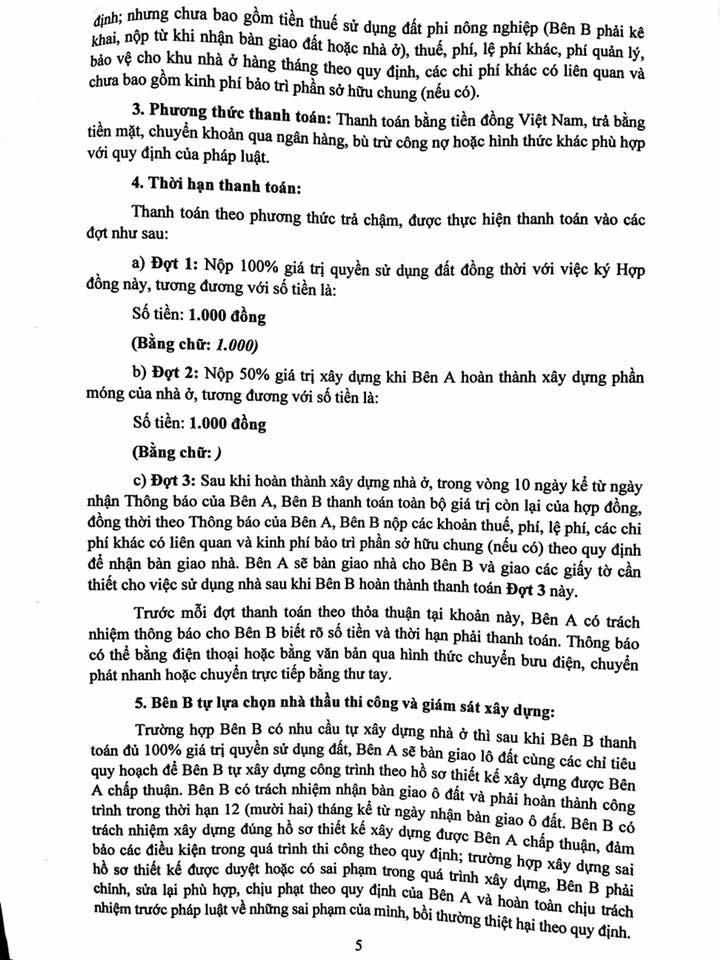 Trang 05- Hợp đồng liền kề thanh hà mường thanh cienco 5 land