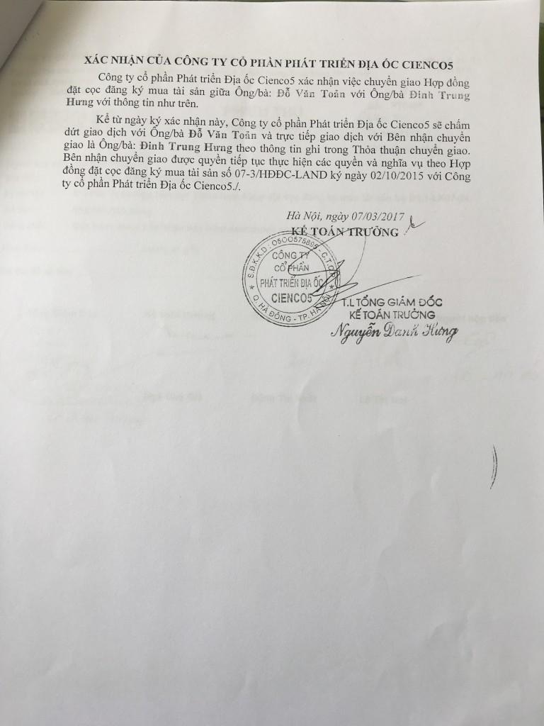 04-thỏa thuận chuyển giao hợp đồng đặt cọc liền kề thanh hà cienco 5 land