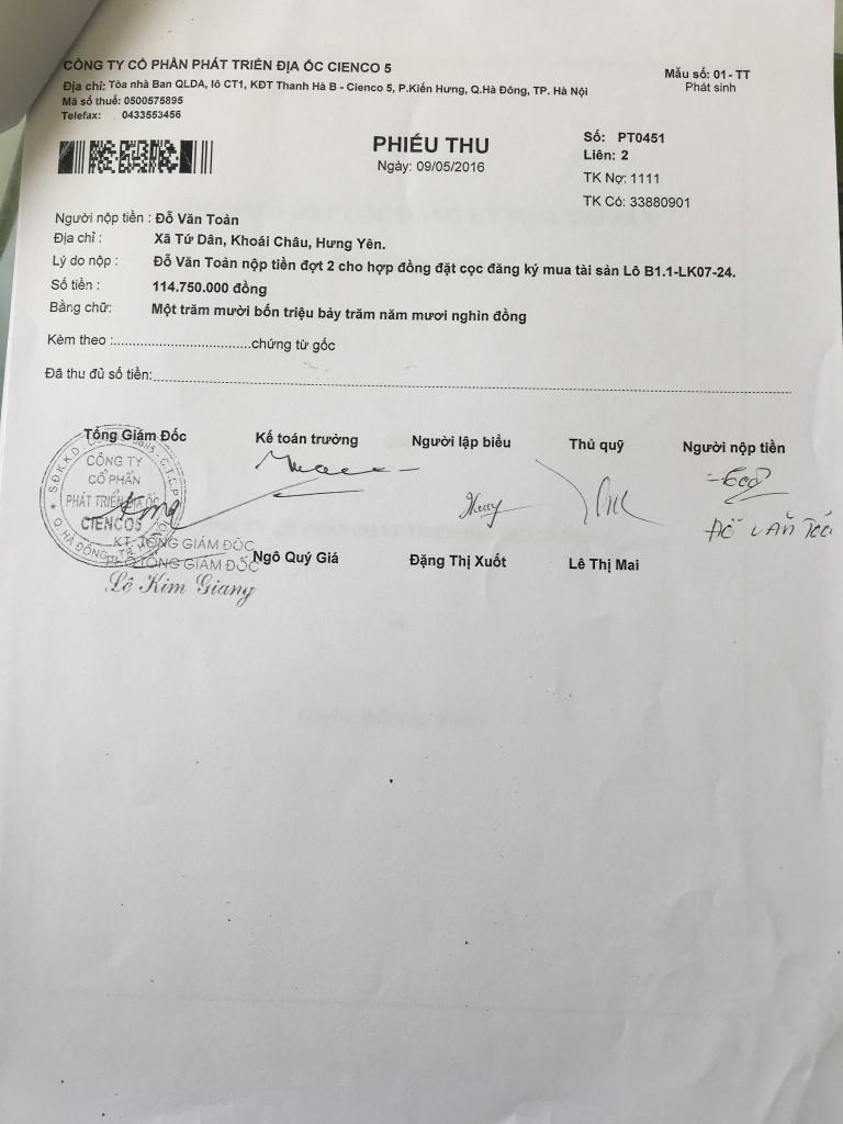 05-thỏa thuận chuyển giao hợp đồng đặt cọc liền kề thanh hà cienco 5 land