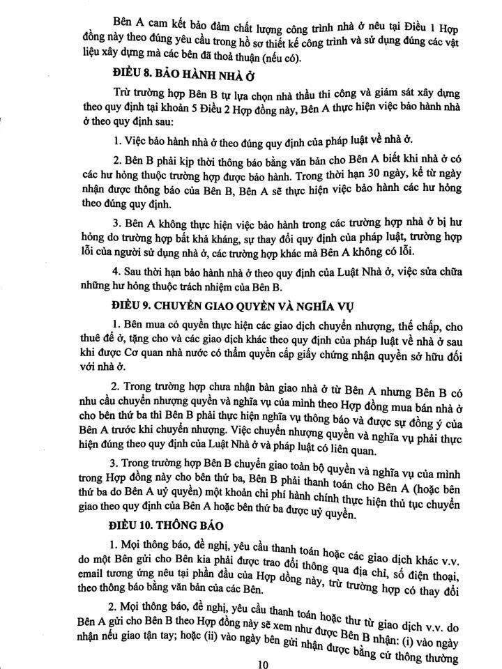 Trang 10- Hợp đồng liền kề thanh hà mường thanh cienco 5 land