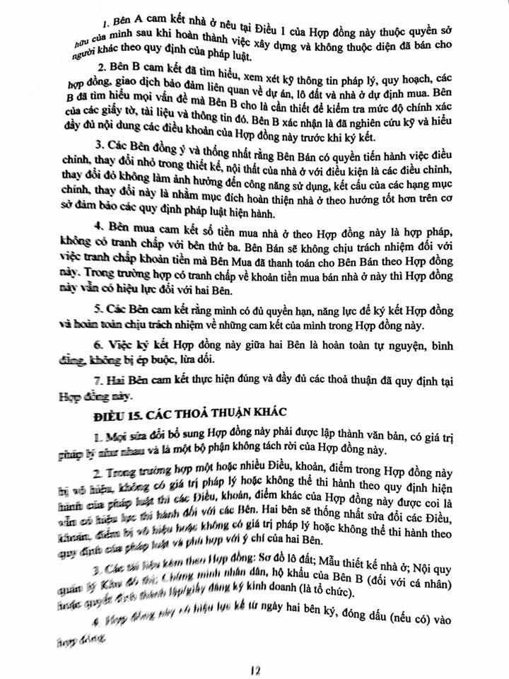 Trang 12- Hợp đồng liền kề thanh hà mường thanh cienco 5 land