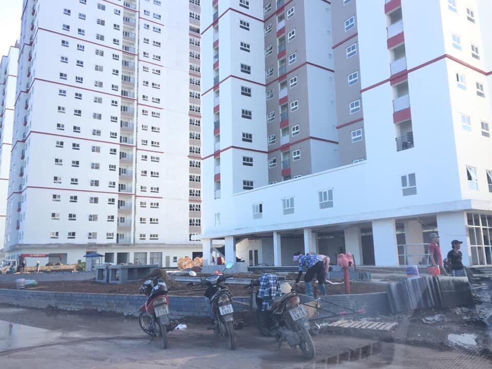 Vườn hoa Khối 5 tòa chung cư b2.1 hh02 thanh hà cienco 5 land