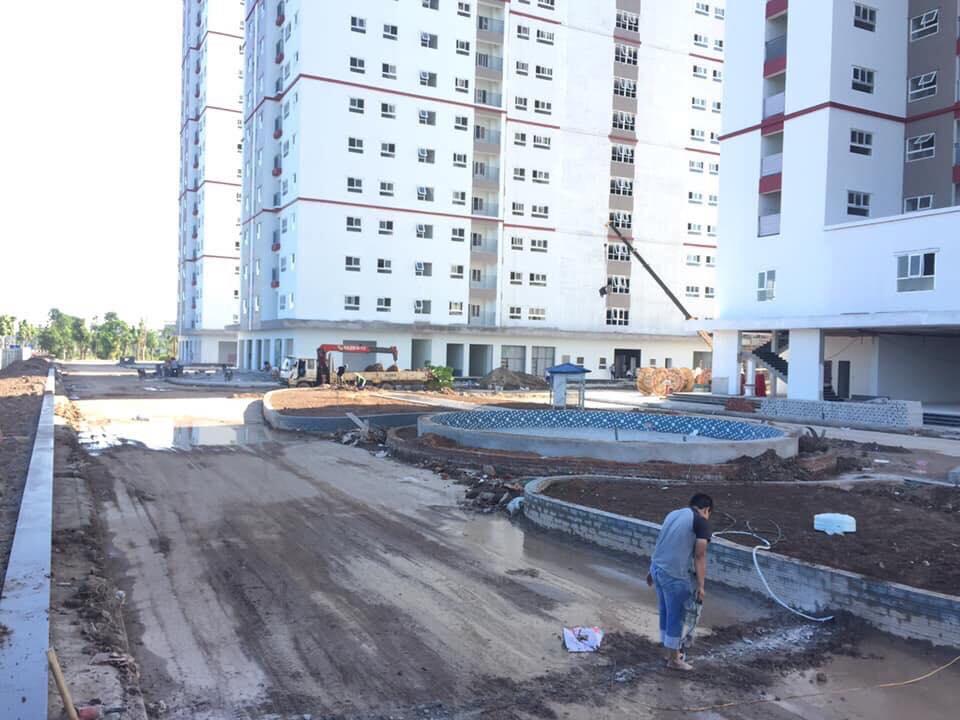 Đài phun nước trước sảnh 5 tòa B2.1 HH02 Thanh Hà