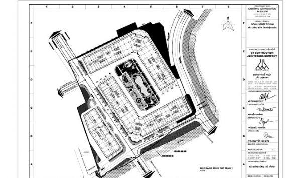 Mặt bằng tổng thể khối 3 tòa Chung Cư Mường Thanh Gò Vấp