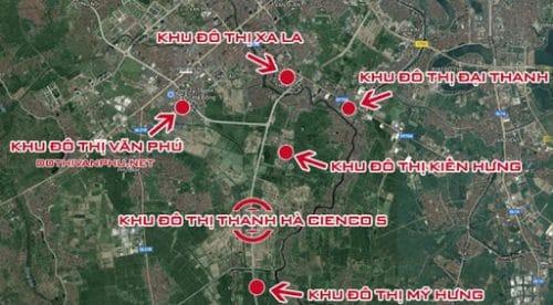 Vị trí dự án khu đô thị Thanh Hà Cienco 5