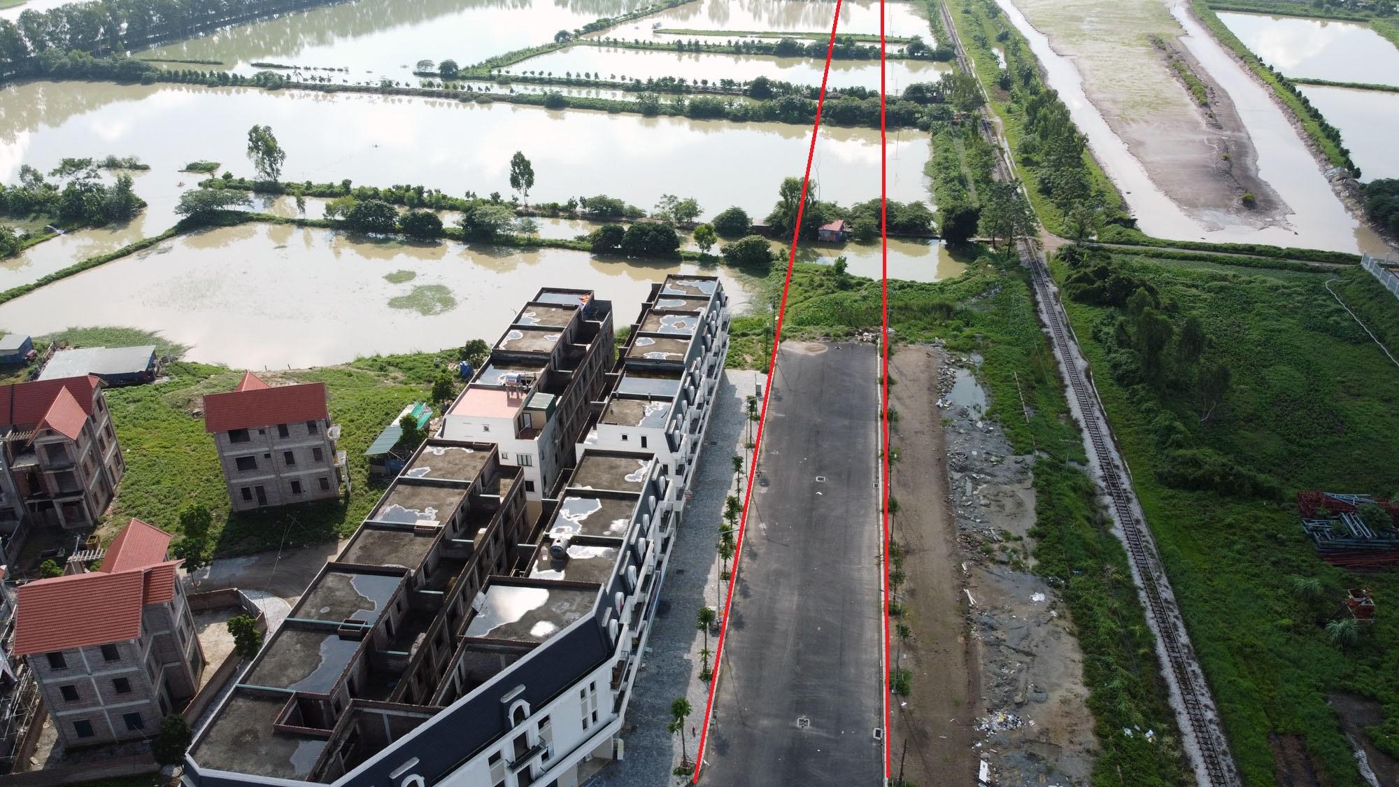Một phần của tuyến đường đã được xây dựng cùng với khu đô thị Phú Lương.