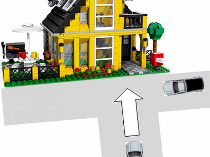 Nhà nằm ở vị trí đường đâm