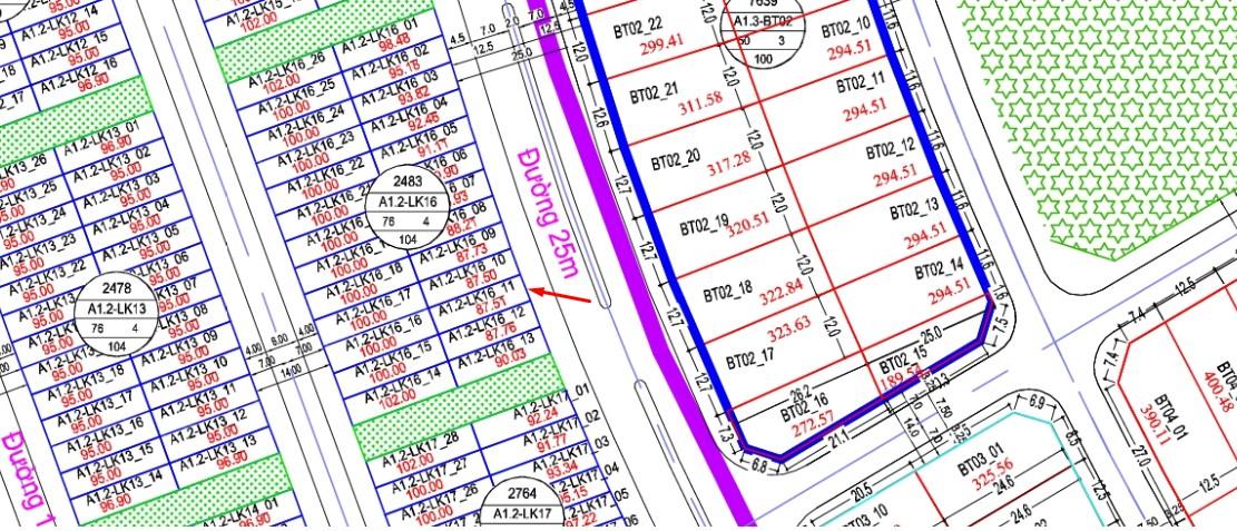 Bán Gấp ô đất A1.2 - Lk16 - ô số 11 liền kề Thanh Hà Cienco 5