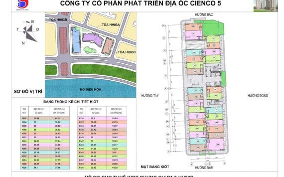 Mặt bằng Tổng thể Kiot Chung Cư B1.3 HH03B Thanh Hà Cienco 5