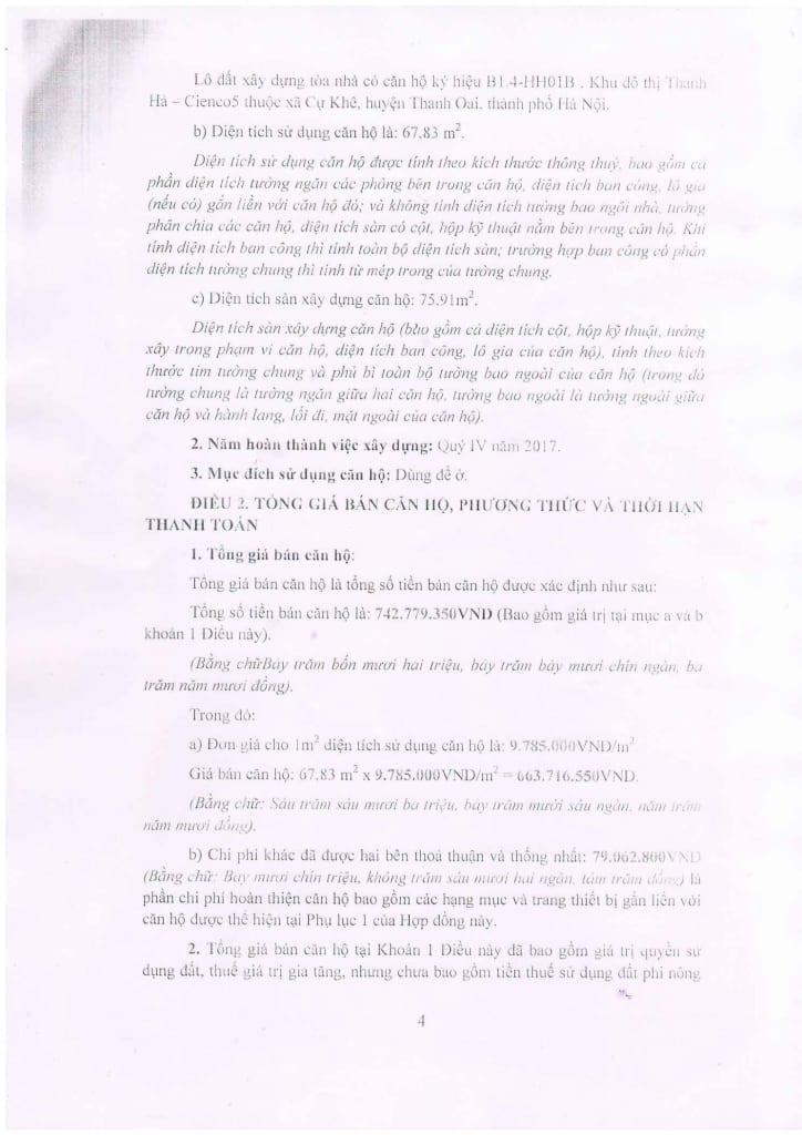 Trang 04 - Mẫu hợp đồng Chung Cư B1.4 HH01 Thanh Hà Cienco 5