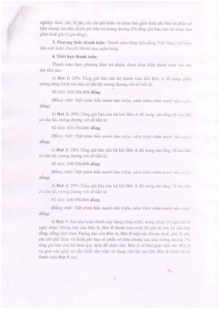Trang 05 - Mẫu hợp đồng Chung Cư B1.4 HH01 Thanh Hà Cienco 5