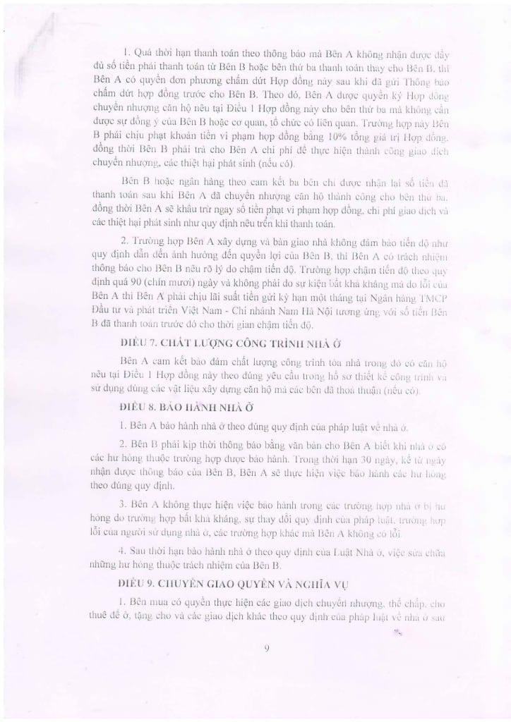 Trang 09 - Mẫu hợp đồng Chung Cư B1.4 HH01 Thanh Hà Cienco 5