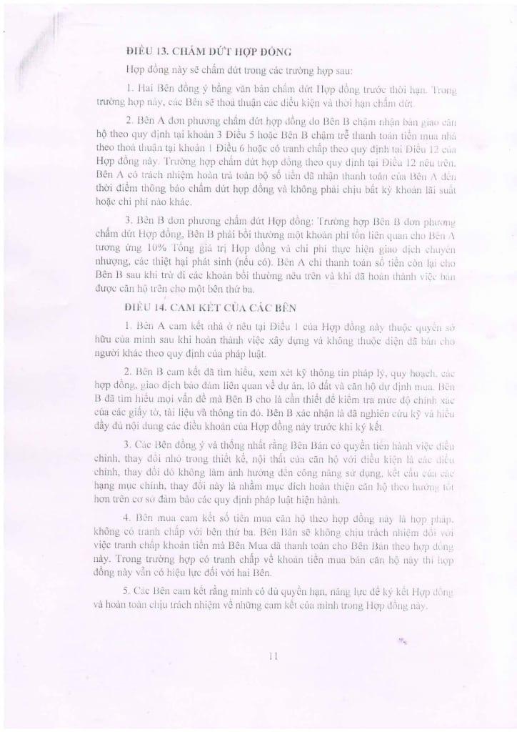 Trang 11 - Mẫu hợp đồng Chung Cư B1.4 HH01 Thanh Hà Cienco 5
