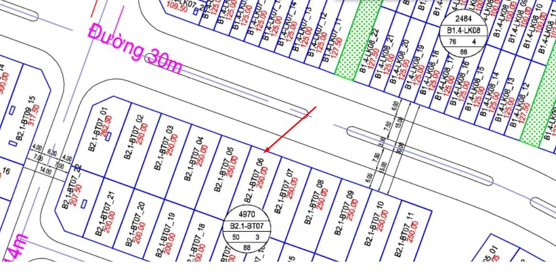 Bán ô Biệt Thự Thanh Hà B2.1 - BT07 - Ô số 6