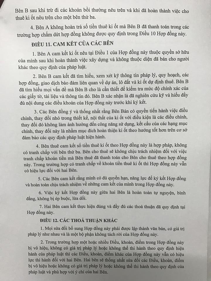 Trang 10 - Mẫu hợp đồng kiot Chung Cư Thanh Hà Cienco 5