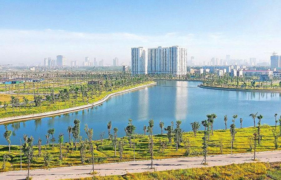 Hồ điều hòa khu B - Khu đô thị Thanh Hà