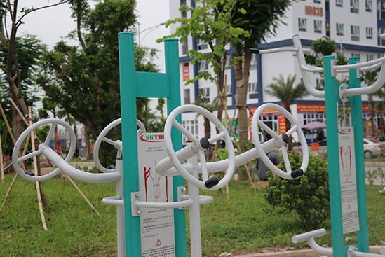 Khu tập thể dục cho cư dân Chung CưThanh Hà