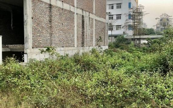 Liền kề Thanh Hà đang bị tạm dừng xây dựng