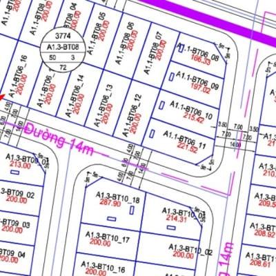 Bán Biệt Thự Thanh Hà Đường 14m - A1.3 - BT08 - ô 16