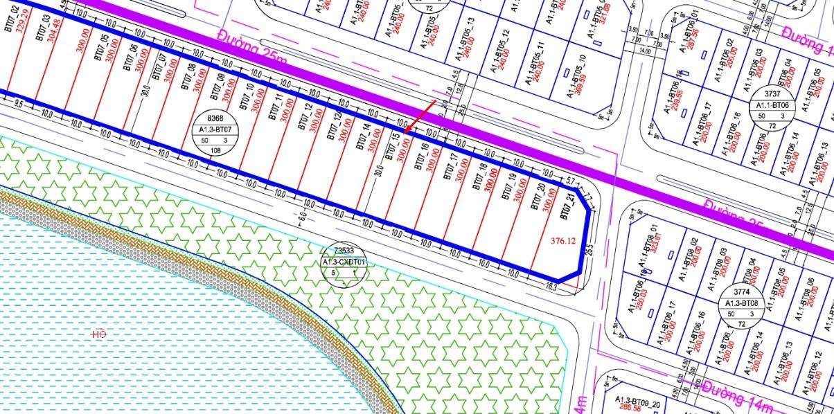 Bán biệt thự mặt hồ Thanh Hà Cienco 5 A1.3 - BT07 - ô số 15