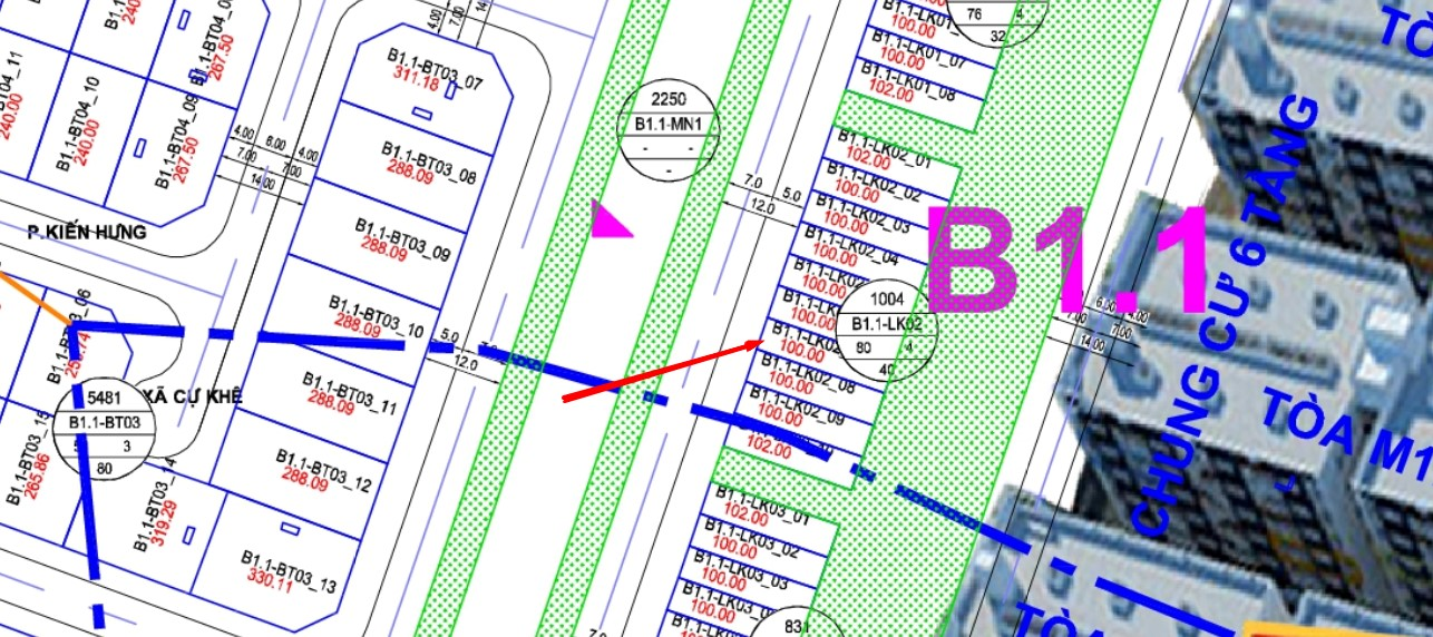 Liền Kề B1.1 – LK02 – Ô số 7