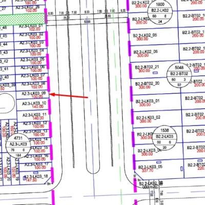 Bán gấp ô Shophouse Thanh Hà Cienco A2.3-Lk03-ô số 9