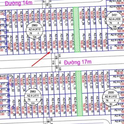 Bán liền kề Thanh Hà A2.4 - LK10 - ô số 18