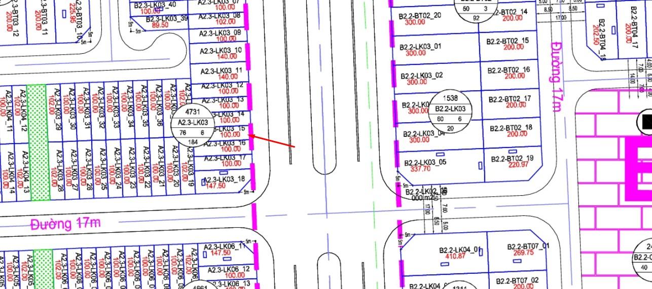 Bán Gấp Shophouse Thanh Hà Cienco 5 ô A2.3-LK03-ô số 15