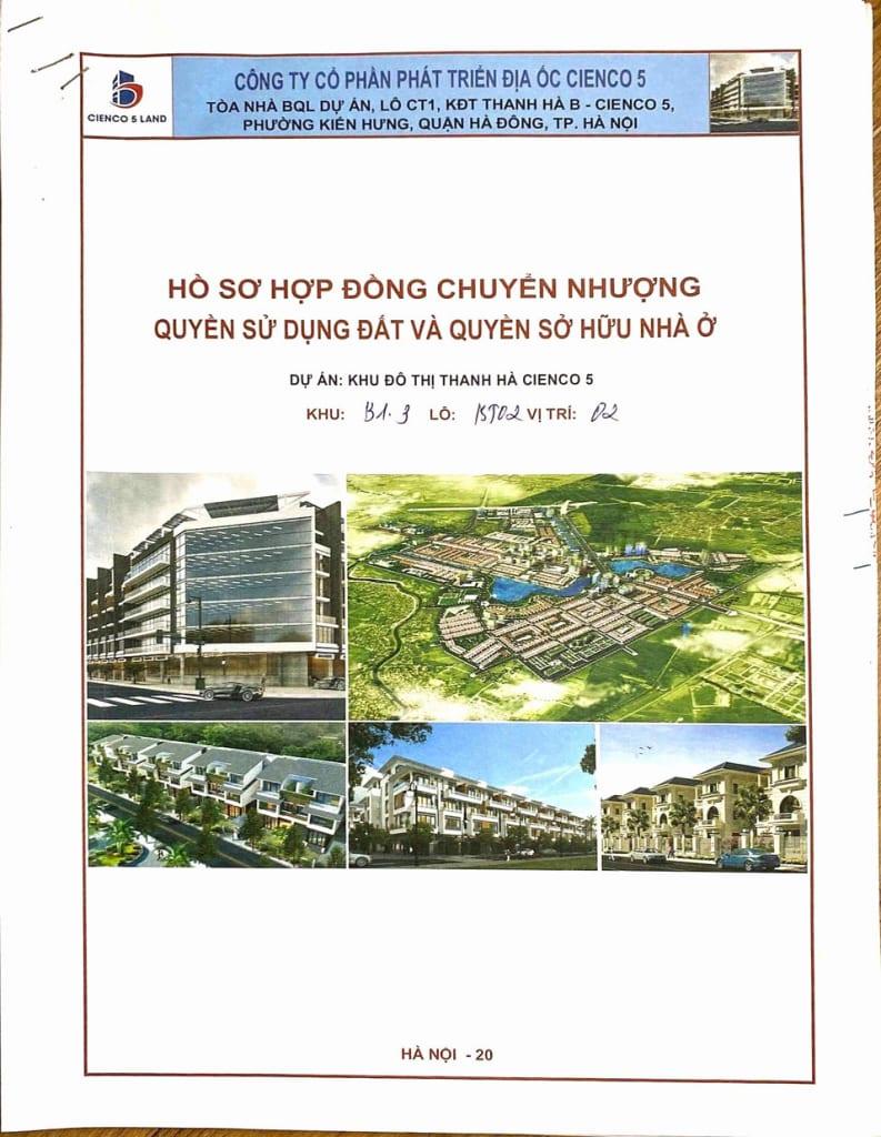 01 - Mẫu hợp đồng biệt thự Thanh Hà Cienco 5