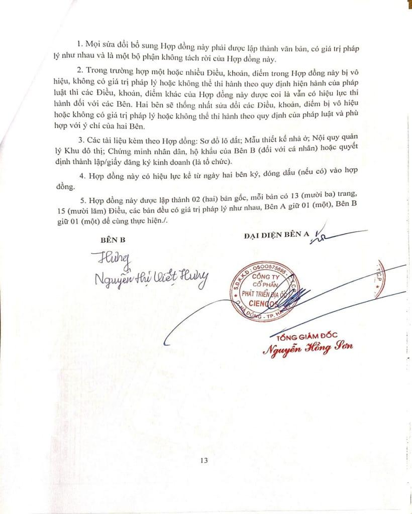 Trang 13 - Hợp đồng Biệt Thự Thanh Hà Cienco 5 - Mường Thanh