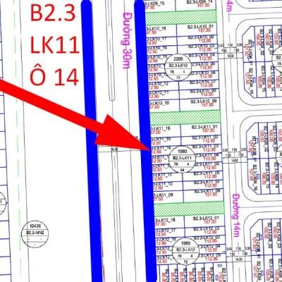 chính chủ bán cắt lỗ liền kề Thanh Hà B2.3 - LK11 ô số 14