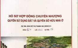 Bìa Hợp đồng Mua bán Shophouse Thanh Hà Cienco 5