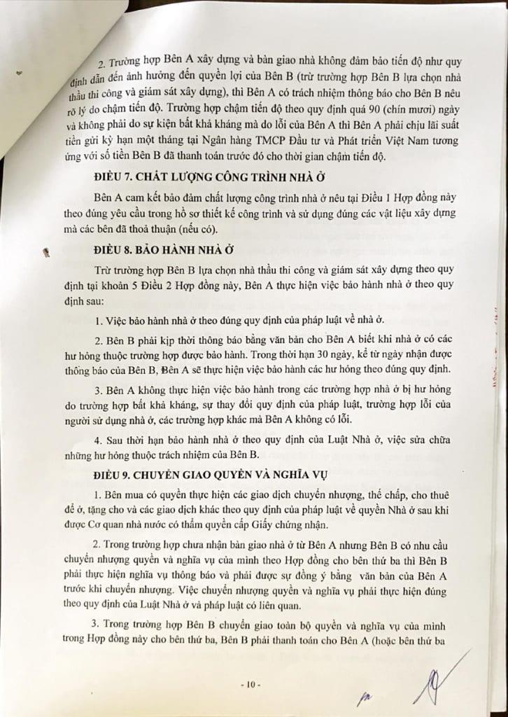 Trang 10 - Hợp đồng Mua bán Shophouse Thanh Hà Cienco 5