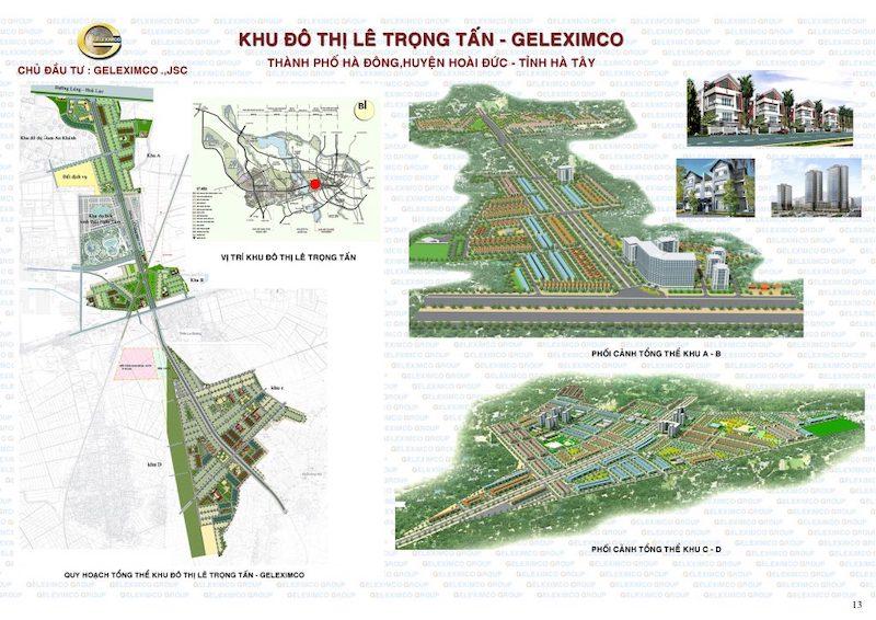 Quy hoạch khu đô thị Geleximco Lê Trọng Tấn