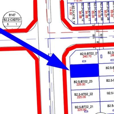 Bán biệt thự Thanh Hà đường 30m B2.5 - BT02 - ô số 24