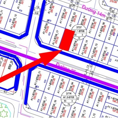 bán biệt thự đường 25m A1.1 - BT06 - ô 16