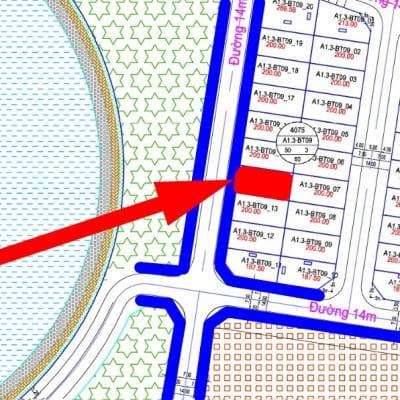 bán biệt thự view hồ Thanh Hà đường 14m A1.3 - BT09 - Ô số 14