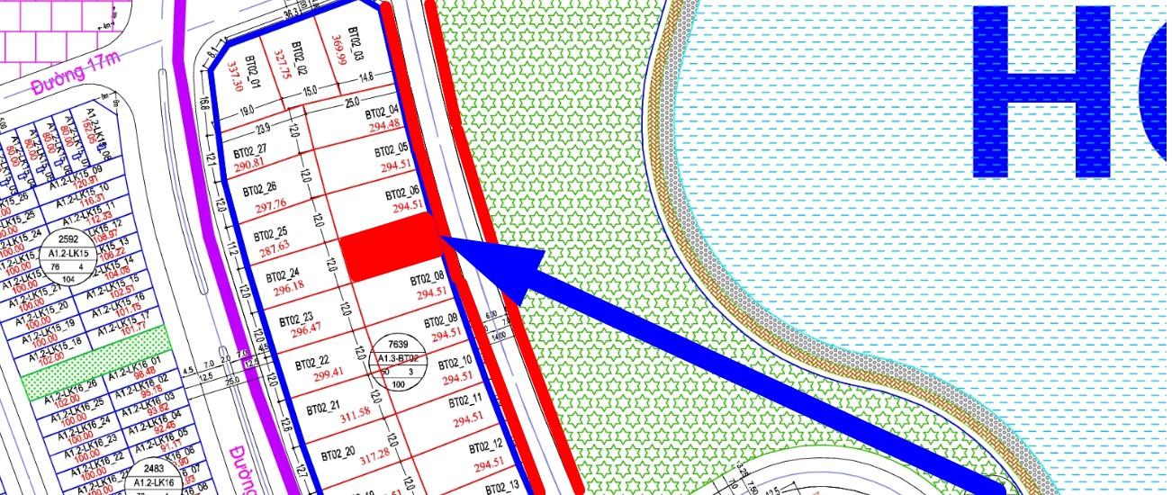 biệt biệt thự view hồ Thanh Hà A1.3 - BT02 - Ô số 7