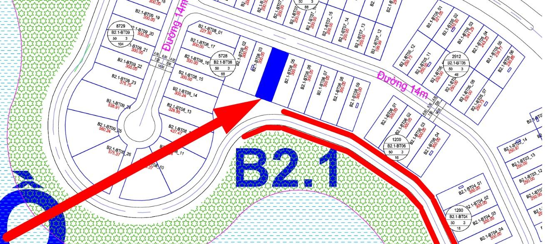 bán biệt thự view hồ Thanh Hà B2.1 - BT08 - ô số 4