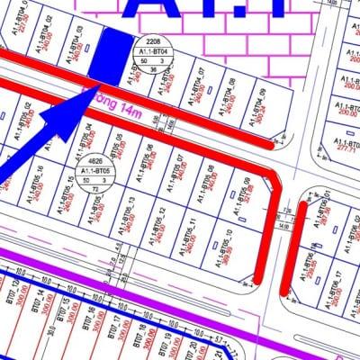 bán biệt thự Thanh Hà đường 14m A1.1 - BT04 - Ô số 4